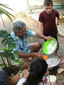 Making coconut candy