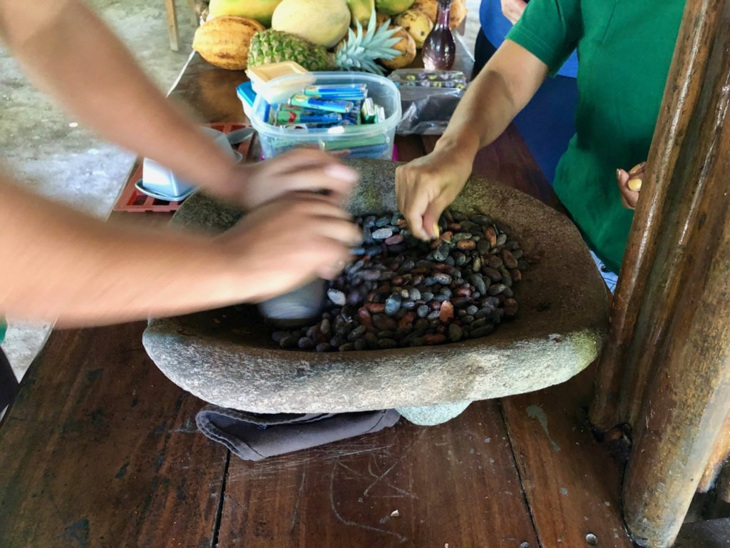 Crushing Cacao Beans