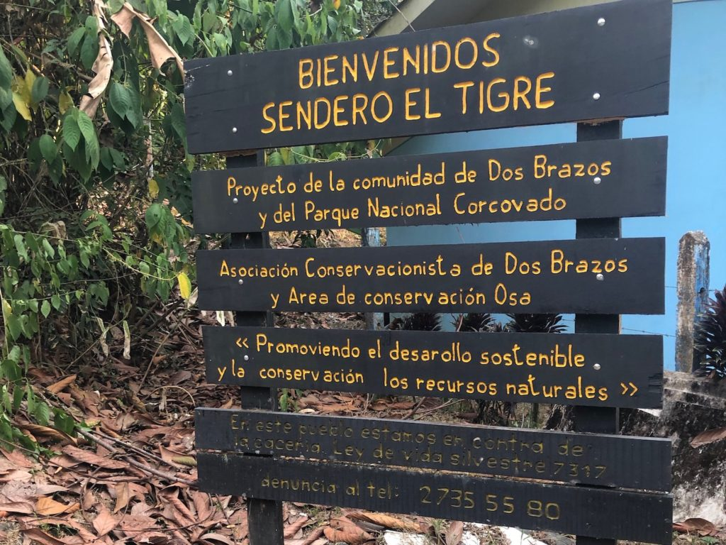 Corcovado National Park Sign