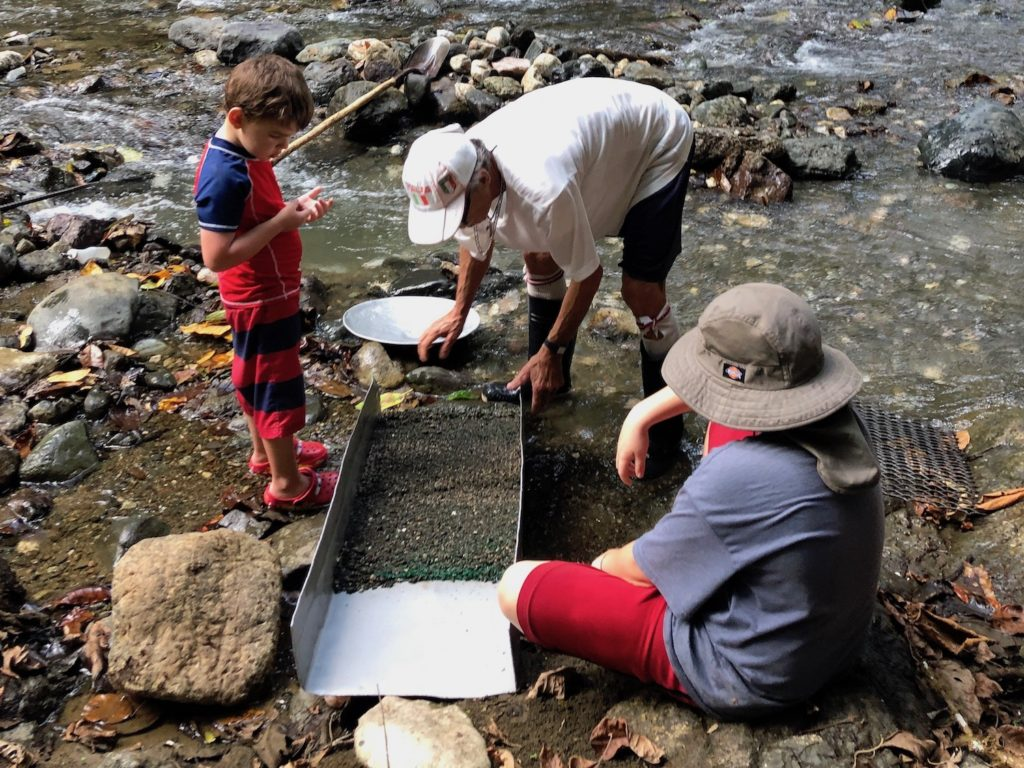 Gold panning in Costa Rica