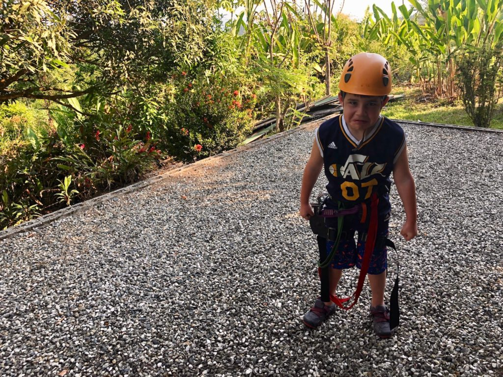 Zip lining with kids