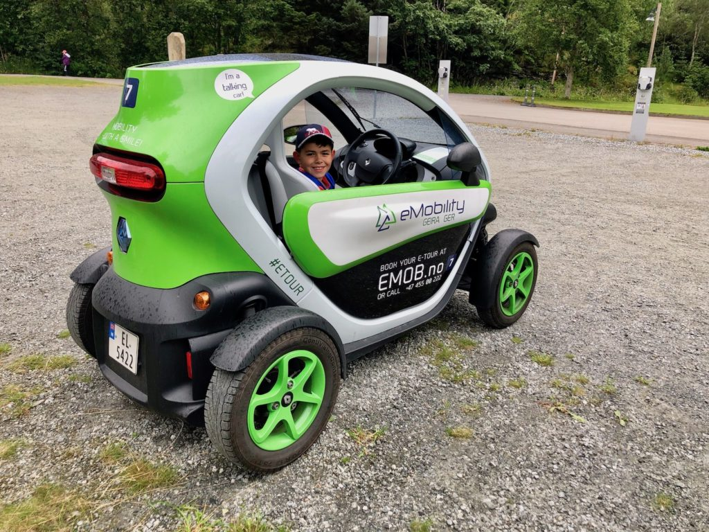 Driving tiny cars in Norway