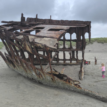 Visiting the Peter Iredale Shipwreck at Fort Stevens State Park in Oregon