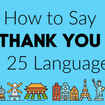 How to Say Thank You in 25 Languages